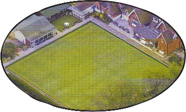 The Bromley Bowling Club Green from the air